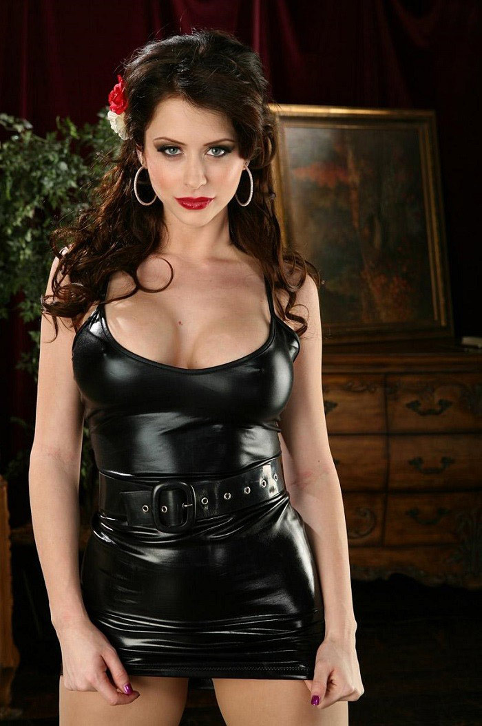 Emily Addison In The Sexiest Latex Dress Eporner 1