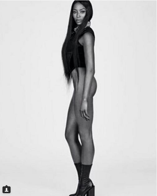 En Fotos Naomi Campbell Se Desnuda Para Revista Vogue