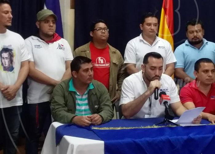 Miembros de UNEN-UNAN Managua se pronuncian a favor de Evo Morales - TN8 Nicaragua