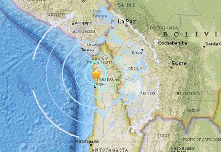Sismo de magnitud 5,7 sacudió costa de Chile — VENEZUELA