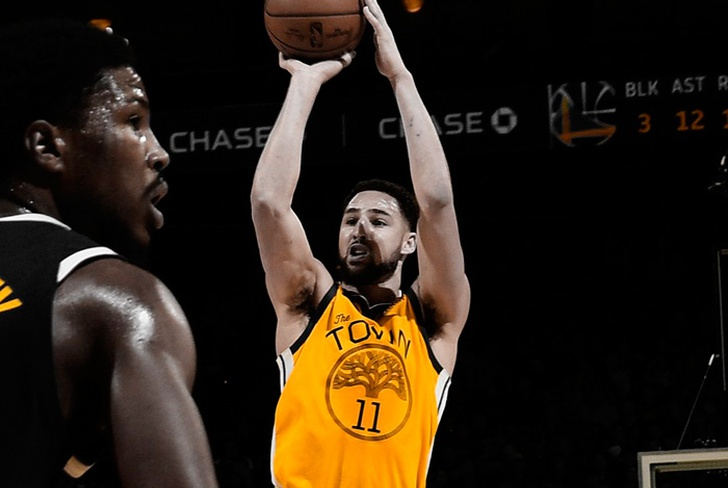klay, thompson, warriors, golden, state, conferencia, oeste, nuggets, denver, oracle, arena,