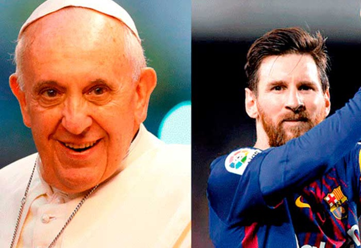 papa francisco, lionel messi, video, espectaculo artistico,