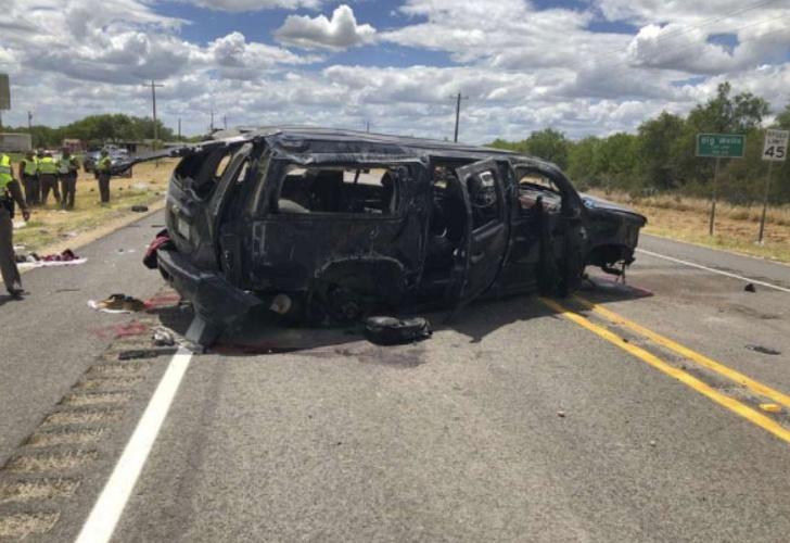 Cinco muertos, accidente de transito, persecución, sur de Texas,  Estados Unidos,