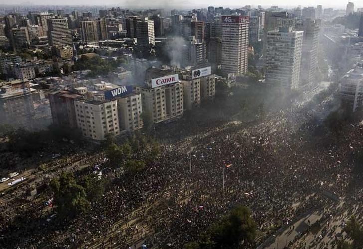 chile, protestas, movimientos sociales, huelga general, paro nacional,