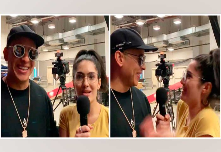 (Video) Periodista se pone nerviosa al entrevistar a Daddy Yankee
