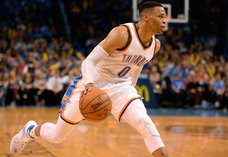 russell, westbrook, thunder, oklahoma, city, triple, doble, nik, stauskas, 76ers, filadelfia,-Westbrook alcanza 35to triple-doble contra 76ers