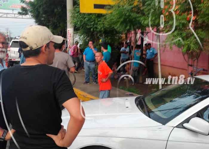 nicaragua, managua, carretera sur, muerto, accidente de transito, lesionado, motocicleta,
