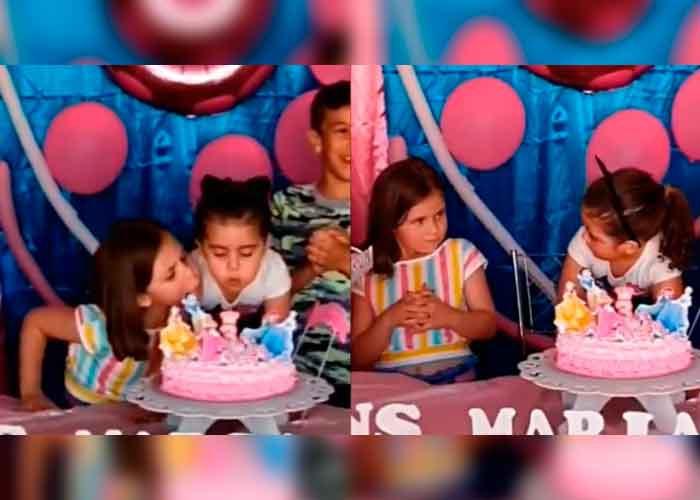La historia detrás de las nenas que pelean en un cumpleaños
