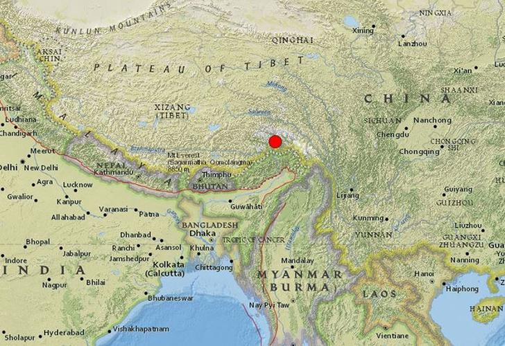 Sismo de magnitud 6.3 sacude el Tíbet e India