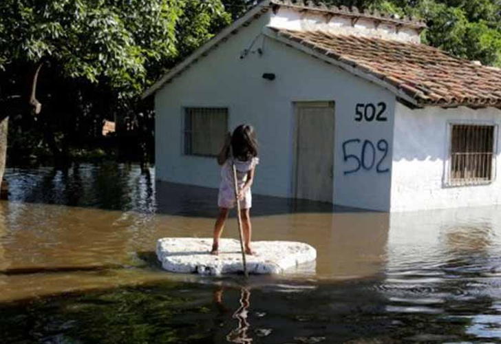 Inundaciones en Paraguay dejan 18.000 damnificados en una semana