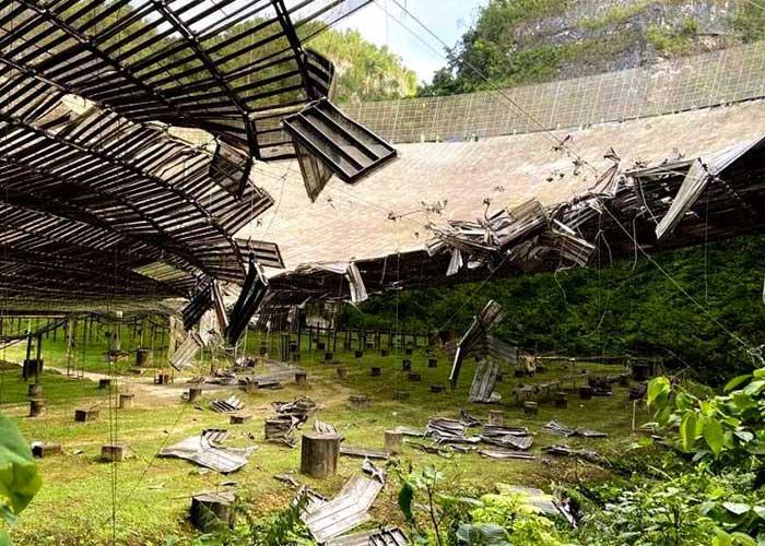 arecibo, puerto rico, radiotelescopio, observatorio de arecibo, america latina, colapso, danos materiales,