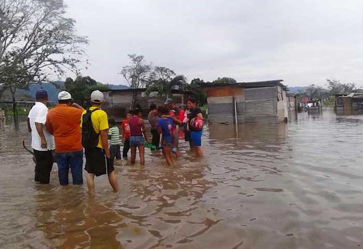 Lluvias en Honduras dejan al menos 2 muertos y 554 afectados