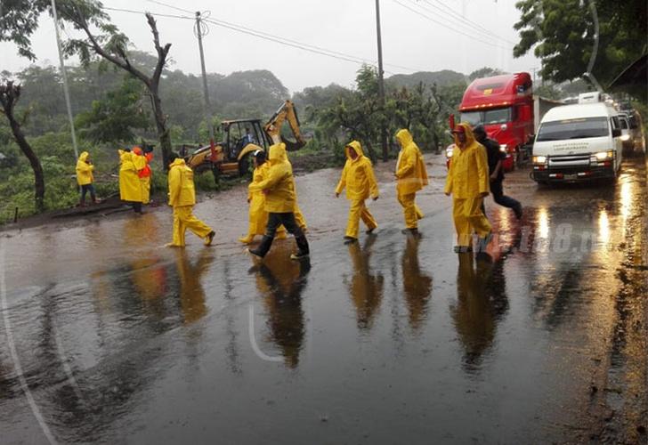 Reportan 12 departamentos afectados por lluvias en Nicaragua