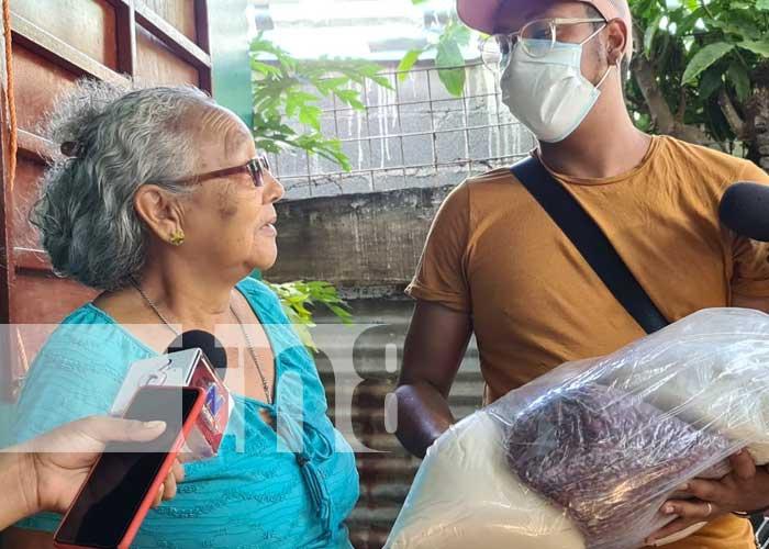 nicaragua, paquete alimenticio, madres, heroes y martires, fsln,