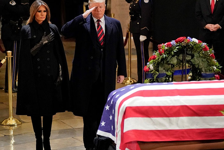 estados unidos, washington, capitolio, funerales, george h.w. bush, casa blanca, presidente donald trump,