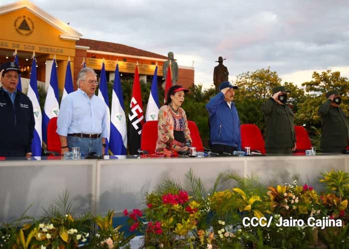 nicaragua, sandino, conmemoracion, acto, daniel ortega, rosario murillo,