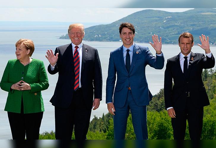 Llega Trump a Cumbre del G7 sin apoyo