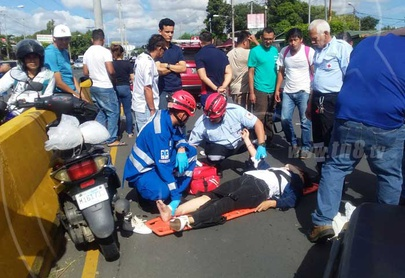 Taxista irresponsable provoca accidente en la Colonia Nicarao