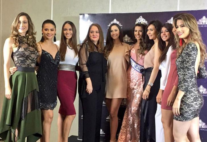 Berenice Quezada Crowned Miss Nicaragua 2017: Todas Ellas Tuvieron Una Reunión Con Miss Nicaragua 2017