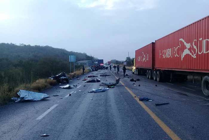 mexico, hondurenos, mueren, accidente de transito, choque,