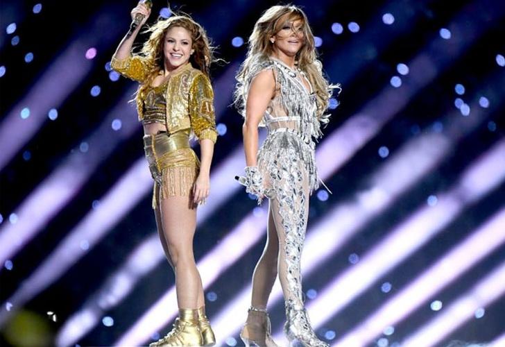Shakira y Jennifer Lopez tributaron a Latinoamérica en el Super Bowl