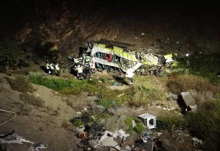 """Resultado de imagen para Al menos 20 muertos en Chile tras accidente de autobús"""""""