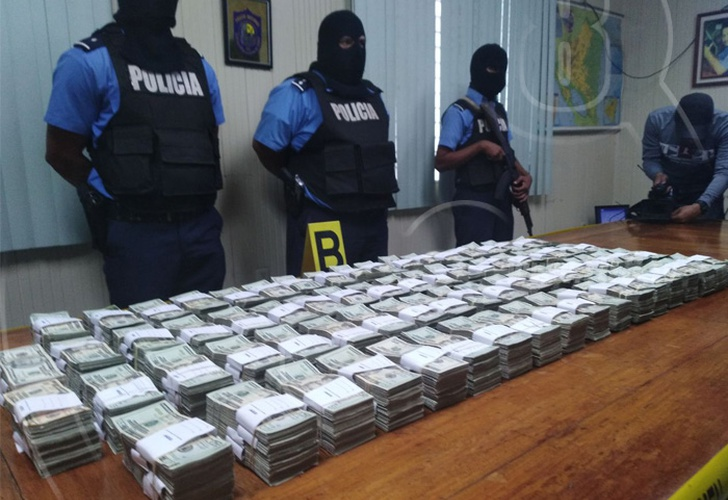 Policía Nacional incauta 740 mil dólares en frontera sur de Nicaragua