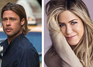 Revelan el video del encuentro virtual de Brad Pitt y Jennifer Aniston