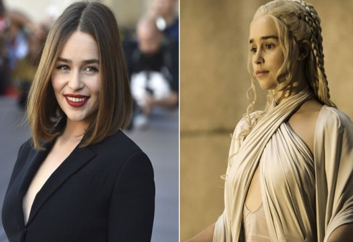 actriz, cambio de look, game of thrones, cabello, color platino,-Emilia Clarke se ha teñido de platino