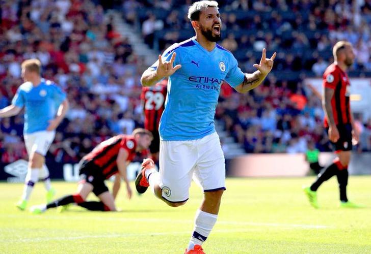 Agüero fulminó al Bournemouth en el partido 400 de David Silva