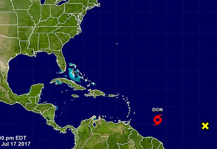 tormenta, tropical, don, estados, unidos,-Se forma en el Caribe la tormenta tropical Don