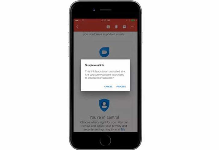 Gmail integra las alertas y filtros de correo fraudulentos en iOS