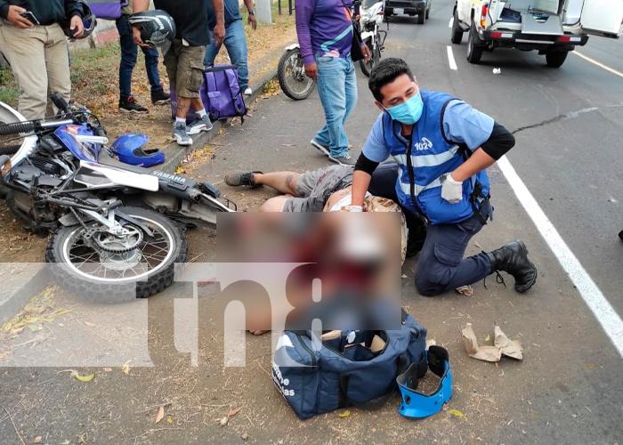 nicaragua, managua, villa fontana, motociclista, muerto,