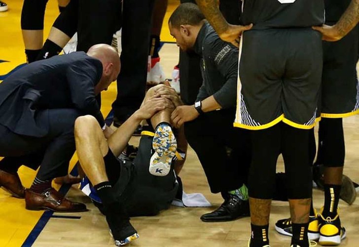 final de nba, klay thompson, lesion en su pierna, partido final, ganadores de la nba,