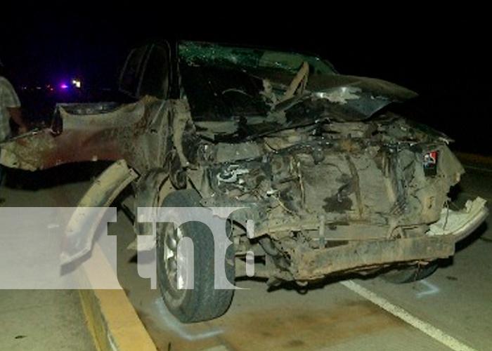 nicaragua, managua, km 40 carretera vieja a leon, fallecido, accidente de transito,