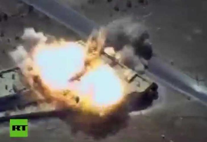 Buques militares rusos disparan seis misiles contra objetivos terroristas en Siria