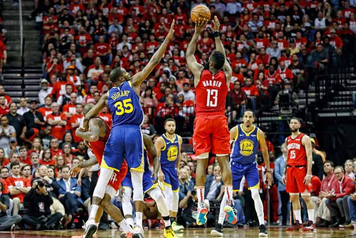 james, harden, rockets, houston, conferencia, oeste, golden, state, warriors, klay, thompson,