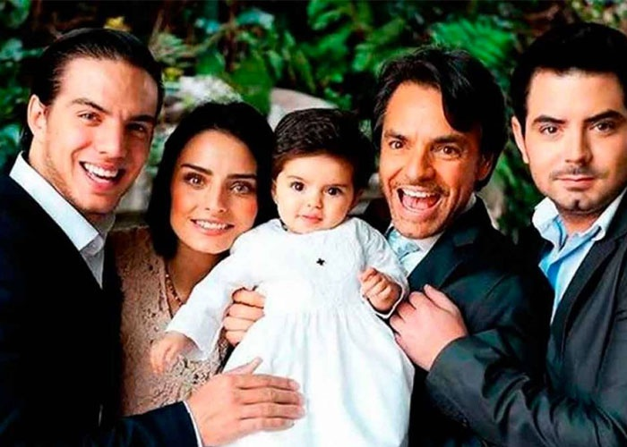 actor, eugenio derbez, fotos, diferentes mujeres, hijos,