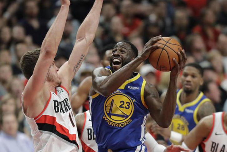 warriors, green, draymond, golden, state, portland, trailblazers, conferencia, oeste, curry,