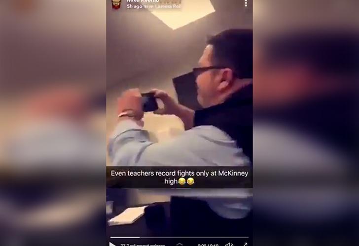 Profesor es suspendido por grabar pelea entre sus alumnos