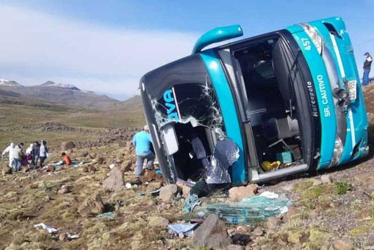 peru, accidente, despiste, bus, ayacucho,