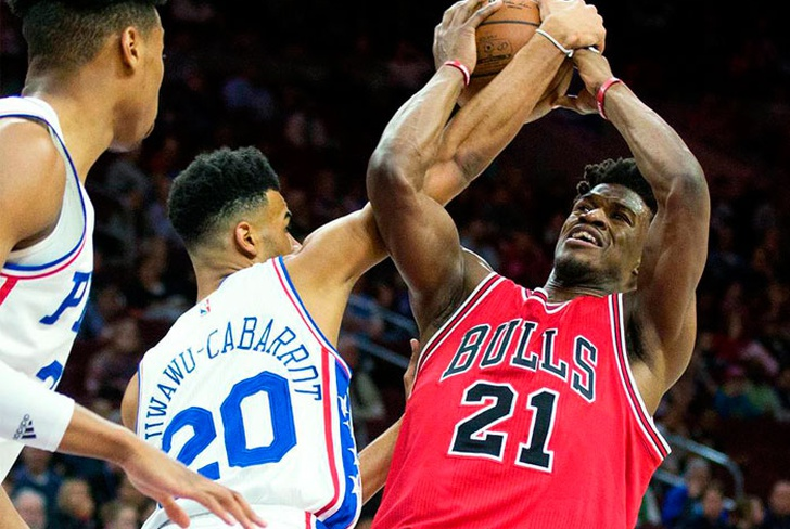 jimmy, butler, damian, lillard, chicago, bulls, 76ers filadelfia, indiana, pacers, wiggins,-Butler aporta triple doble y Bulls derrotan a 76ers