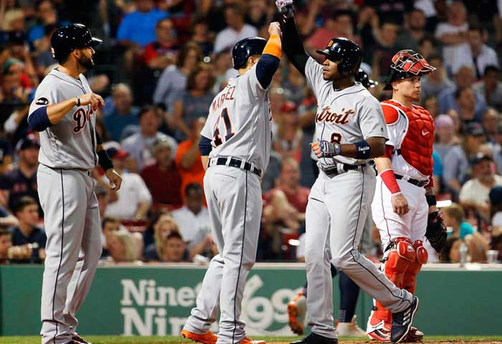 Con grand slam de Upton Tigres evitaron barrida en Boston