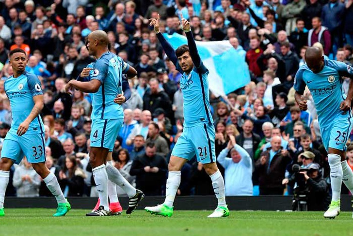 manchester, city, david, silva, kevin, bruyne, manchester, united, middlesbrough, wayne, hennessey,-Silva brilla y Man City golea 5-0 a Crystal Palace