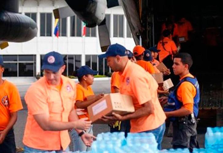 Venezuela envía 10,4 toneladas de ayuda humanitaria a México