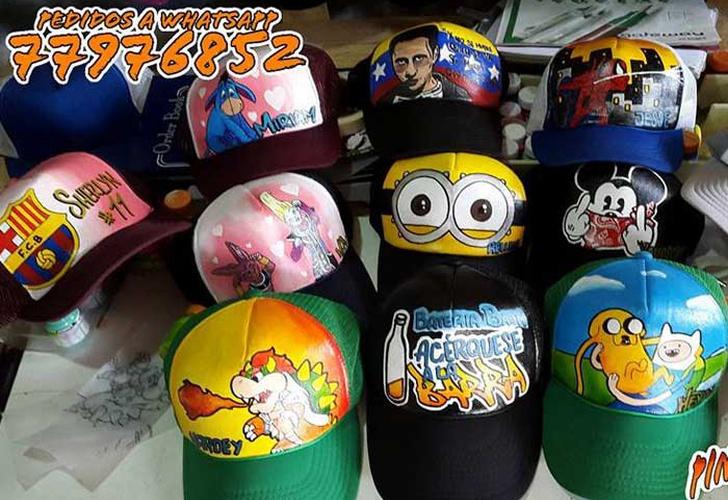 Unite a la moda nica de las gorras Pintadas A Mano 71c6a3685e6