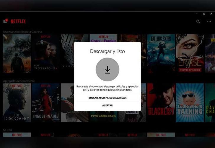 Netflix ya permite descargar su contenido en Windows 10