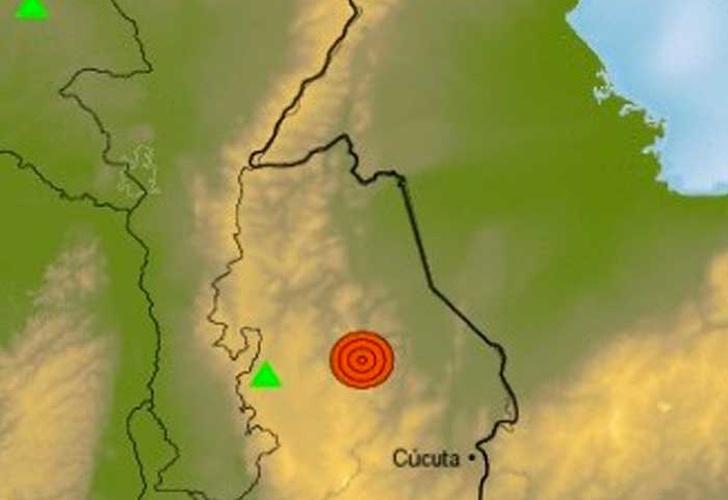 Sismo de 4.9 grados sacude noreste de Colombia