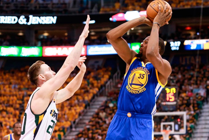 golden, state, warriors, stephen, curry, klay, thompson, nba, baloncesto, utah, jazz,-Durant guía a Warriors a tomar ventaja de 3-0 frente a Jazz