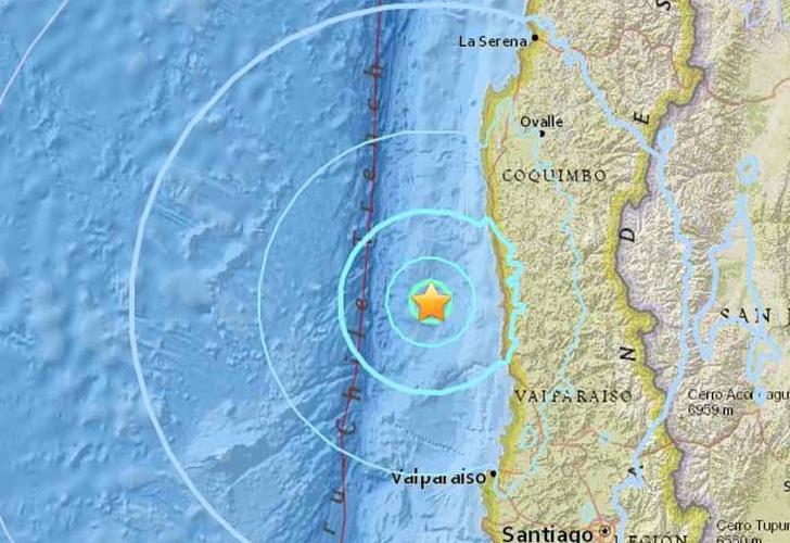 Terremoto de 5,9 sacude a Chile